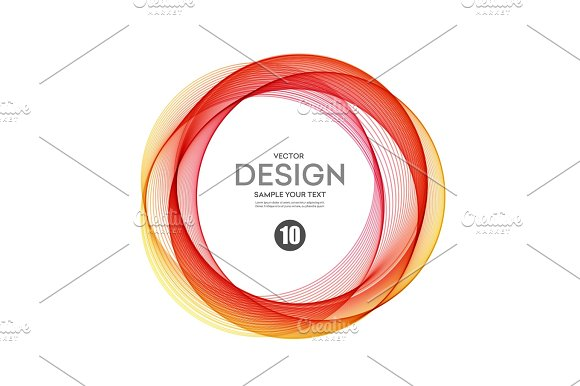 Abstract Vector Background Color Ring