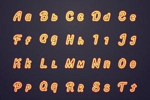 Neon vector letters