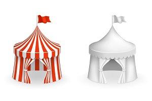 Round circus tent
