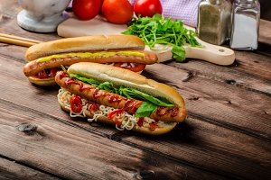 Variation on the red hot dogs