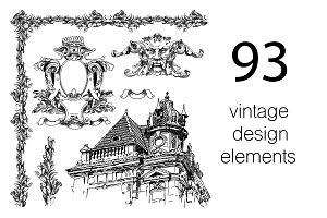 93 VINTAGE DESIGN ELEMENTS