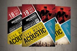Acoustic Live Flyer / Poster