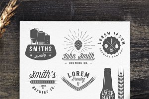 Vintage brewery logos and emblems
