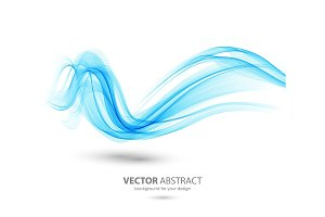 Abstract template background with wave
