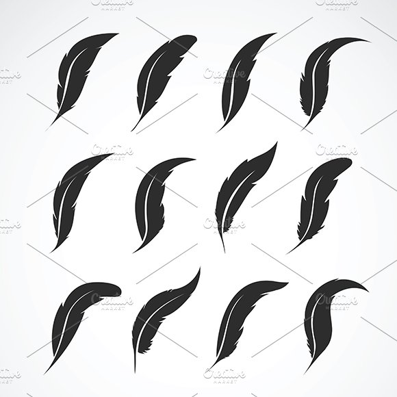 Vector Group Of Feather Icon