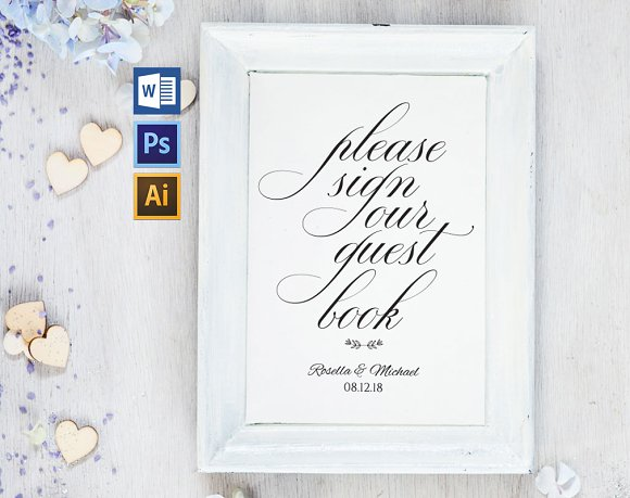 Guest Book Sign Template Wpc263