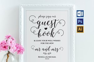 Guest Book Sign Template Wpc265