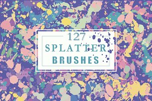 Vector splatter brushes
