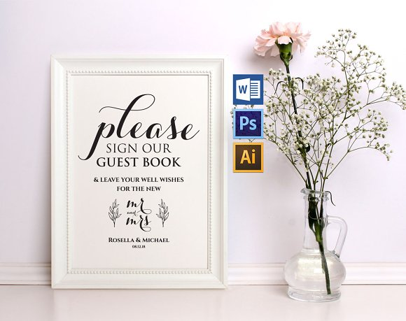 Guest Book Sign Template Wpc266