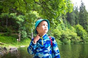 Little child toddler boy outdoor.