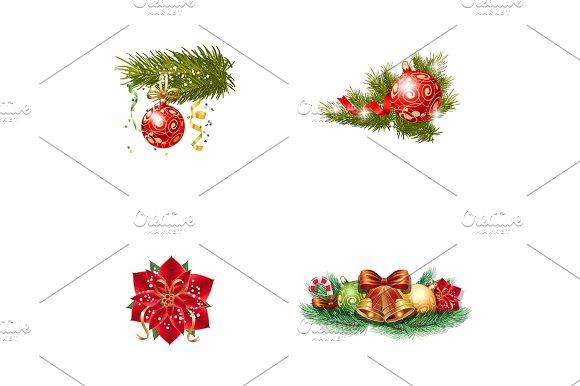 Christmas Ornament Icon Set