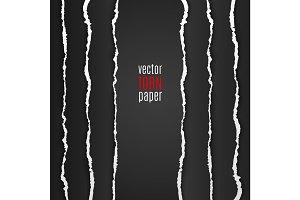 Black torn paper