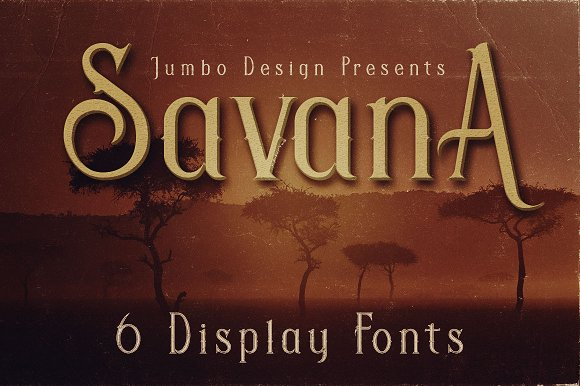 Savana Display Font