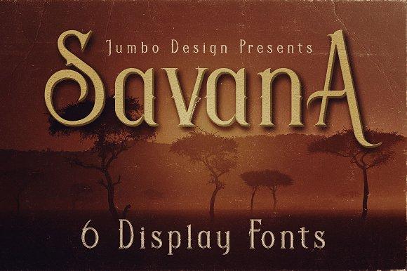 Savana Display Font