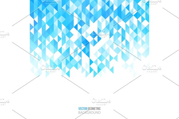 Abstract Color Triangles Poster