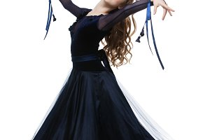 Beautiful teenage ballroom dancer