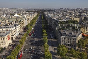 View on the Champs Elysees