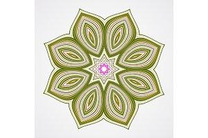 Ethnic Fractal Mandala.