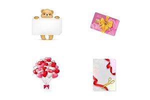 Holiday shopping icon set