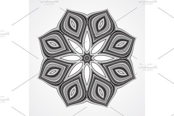 Ethnic Fractal Mandala