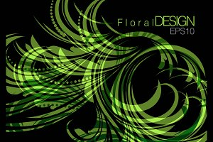 Floral background abstract design
