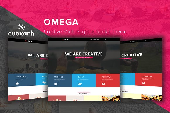 Omega Creative Tumblr Theme