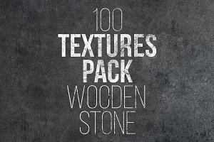 100 Textures Pack. Wooden & Stone