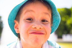 Little boy with funny face