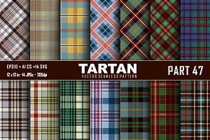 Seamless  Tartan Pattern Part - 47