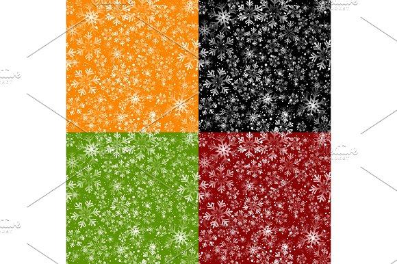 Christmas Snowflakes Seamless Background