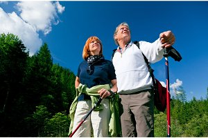Hiking Senior Couple