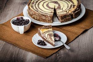 Two-tone cheesecake