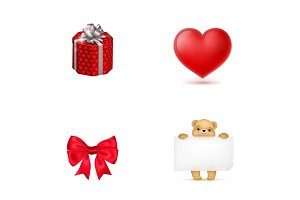 Valentines Day holiday icon set