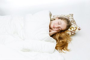 Teen girl sleeping