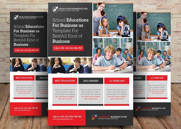School Education Flyer Template