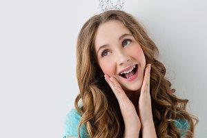 Happy princess girl