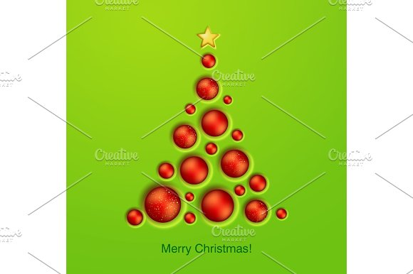 Simple Golden Christmas Tree