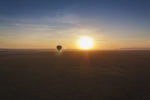Hot air balloon, Masai Mara sunrise
