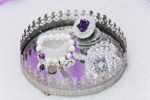 Set of bridal wedding accessories