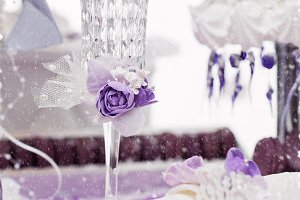 Crystal wedding champagne glass