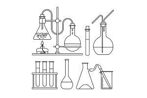 chemical glassware icon