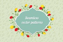 Floral seamless vector patterns