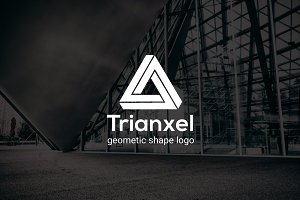 Trianxel : Geometric Shape Logo