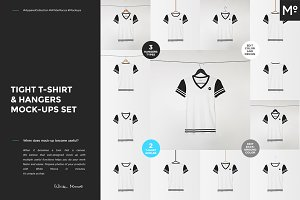 Tight T-shirt & Hangers Mock-ups Set