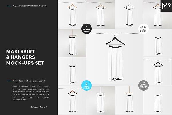 Maxi Skirt & Hangers Mock-ups Set