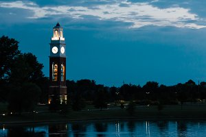 Clock Tower Sunset Coxhall Gardens I