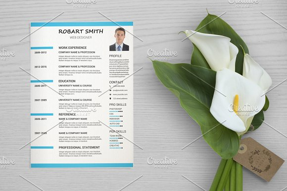 Clean Resume Template V037