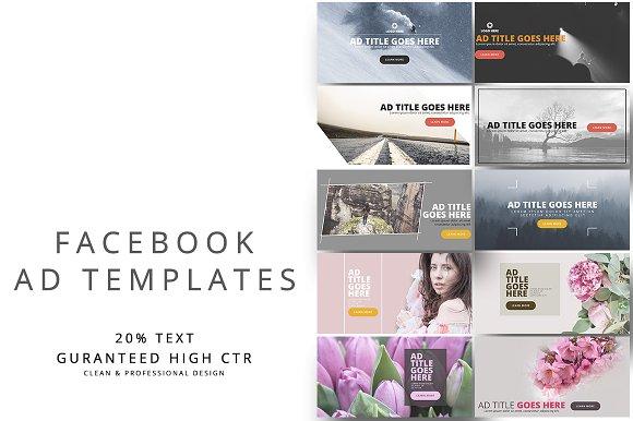 All In One Facebook Bundle Facebook Templates Creative Market