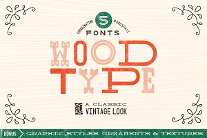 Wood Type Font Collection