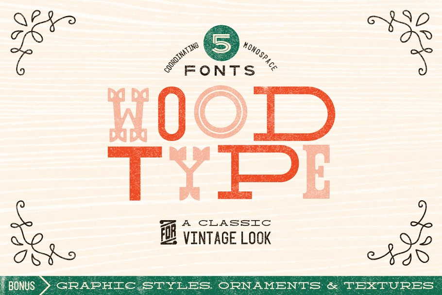 Wood Type Font Collection ~ Display Fonts ~ Creative Market
